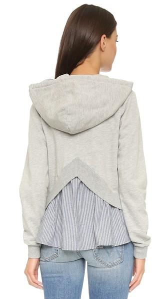 Модный свитер/кофта/пуловер с плиссированной вставкой сзади