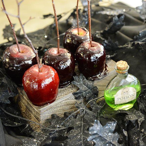 Оформление блюд на Хэллоуин: «Отравленные» яблочки