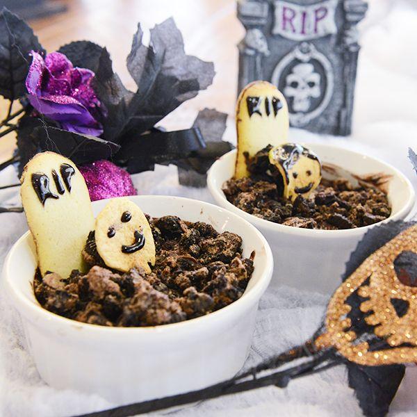Оформление блюд на Хэллоуин: Пока смерть не превратит нас в пудинг