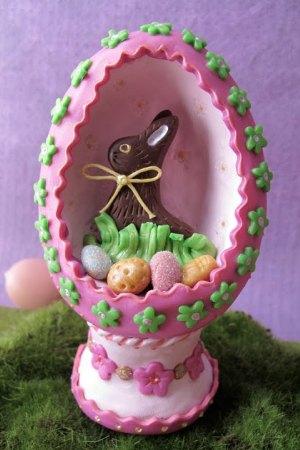 Как сделать диораму в яйце на Пасху или Новый год