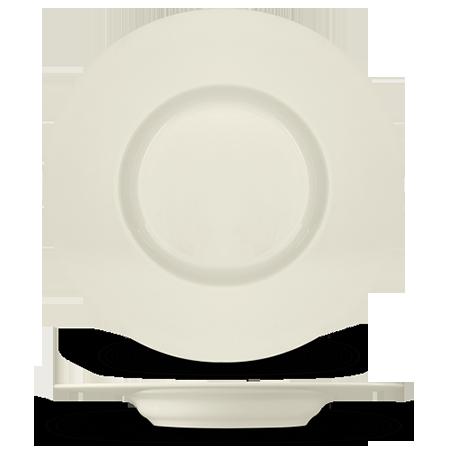 Суповые тарелки с широкими ободами обычно работают в данном случае идеально