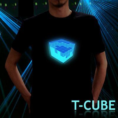 интерактивные футболки с кубом T-cube