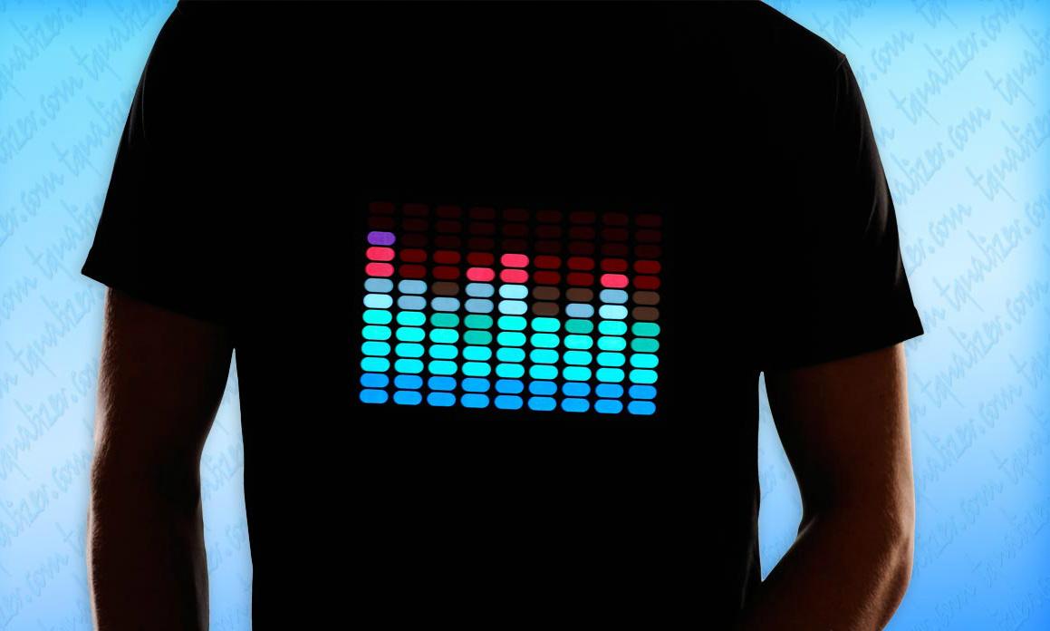 интерактивные футболки с эквалайзером