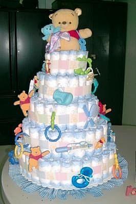 Украсить торт из подгузников можно самыми разными способами