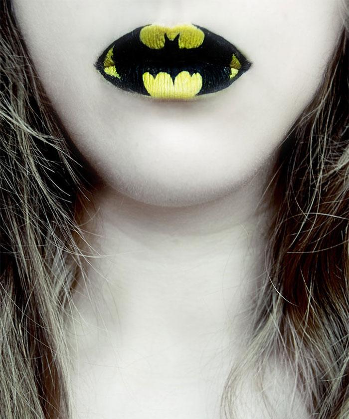 макияж губ (с картинками) на Хэллоуин: Бэтмен