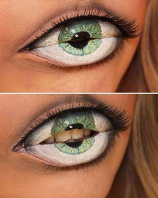 макияж губ (с картинками) на Хэллоуин: глаз