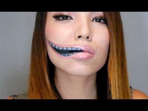 макияж губ (с картинками) на Хэллоуин: удлиненный рот