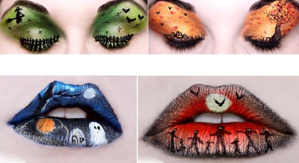 макияж век к макияжу глаз с картинками на Хэллоуин