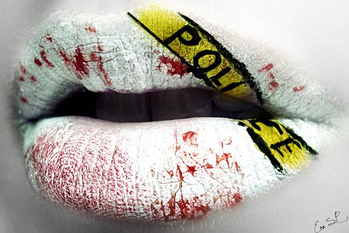 макияж губ (с картинками) на Хэллоуин: место преступления