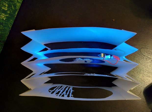 книжный туннель с источником света своими руками
