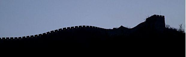 профиль-контур Великой Китайской стены