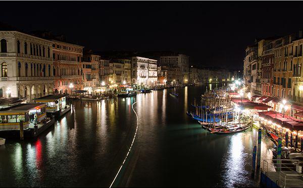 Венеция, главный канал, ночная съемка