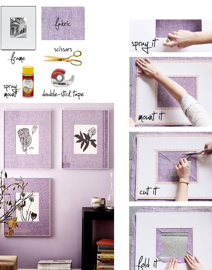Как сделать тканевую рамку для современной картины или серий картин