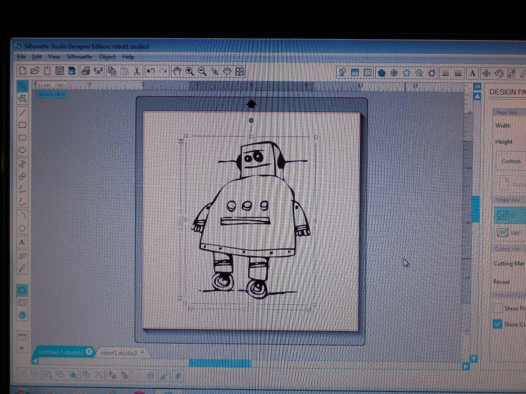 на компьютере в графической программе доводим картинку до требуемого размера, затем оставляем от изображения только контур
