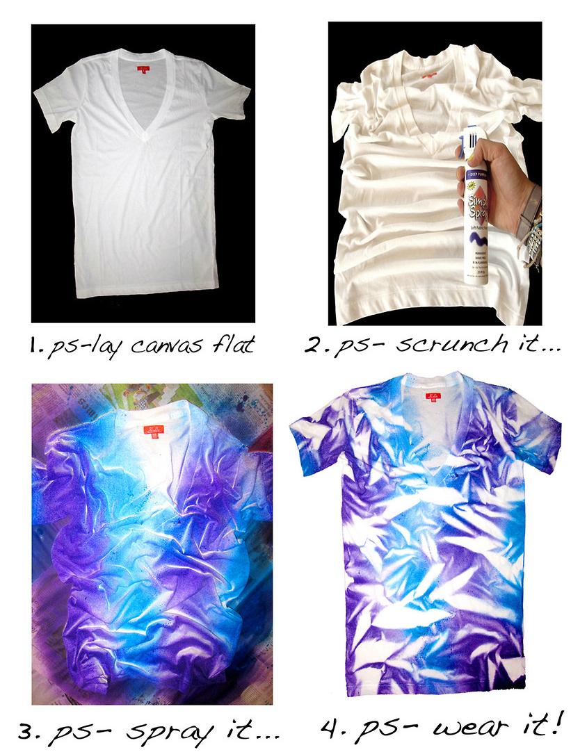 Модная неравномерно окрашенная футболка своими руками: пошаговая инструкция в картинках