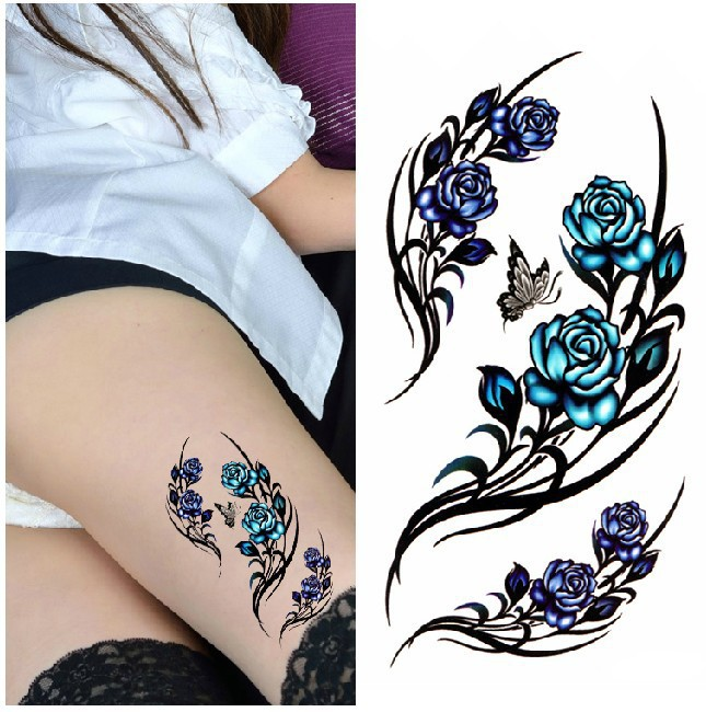 Как выглядит новый тренд – татуировки с винтажными цветами - готические вариации