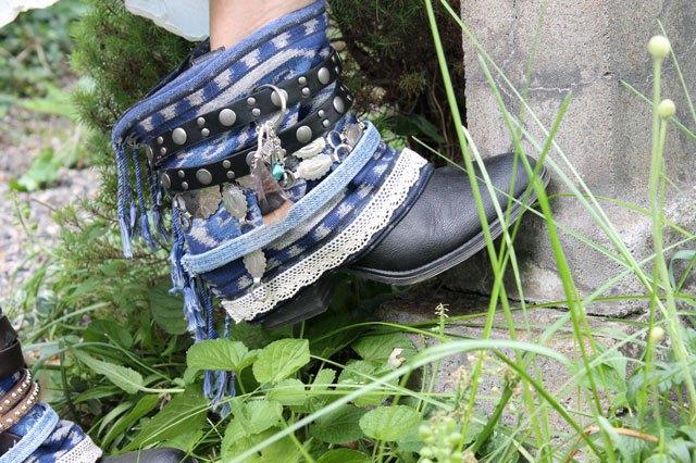 Готовые декоративные накладки своими руками на ботинки из джисы, кожи