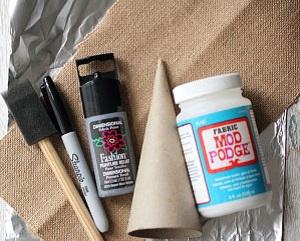 Как сделать елочки-конусы в рустикальном стиле и стиле «урбанистичный металлик» - исходные материалы