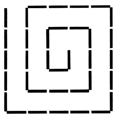 принцип шва - кубическая спираль