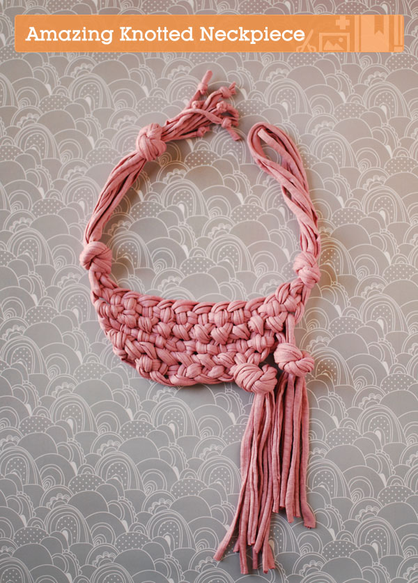 Этнический шарф-колье своими руками - макраме