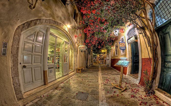 улицы под пологом цветов