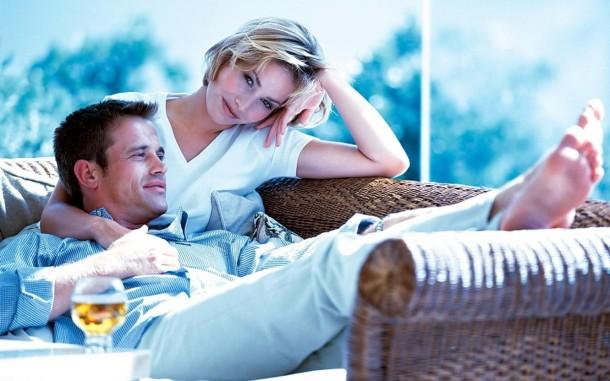 муж и жена, пара: спокойный отдых