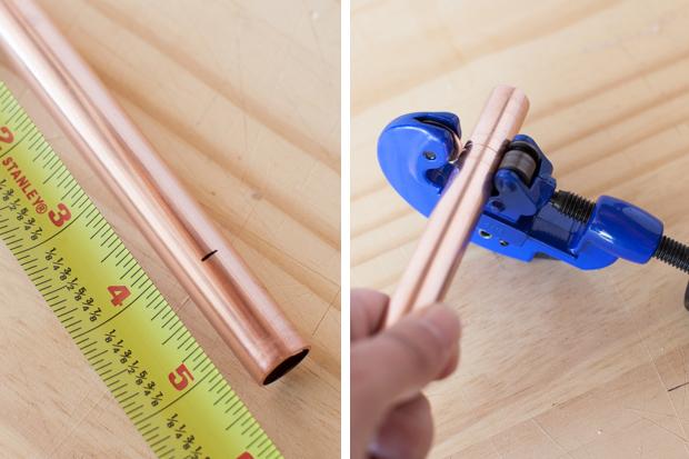 Возьмите купленные трубы и нарежьте их на указанные выше длины
