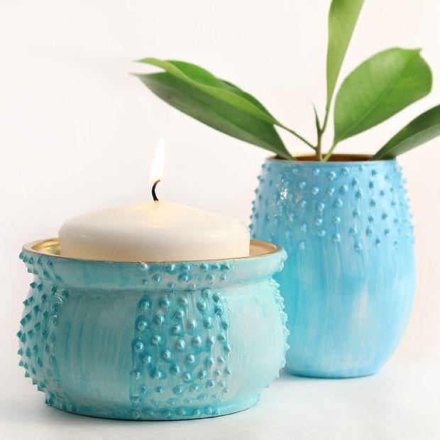 Как трендово и ярко украсить подсвечники, вазы и цветочные горшки