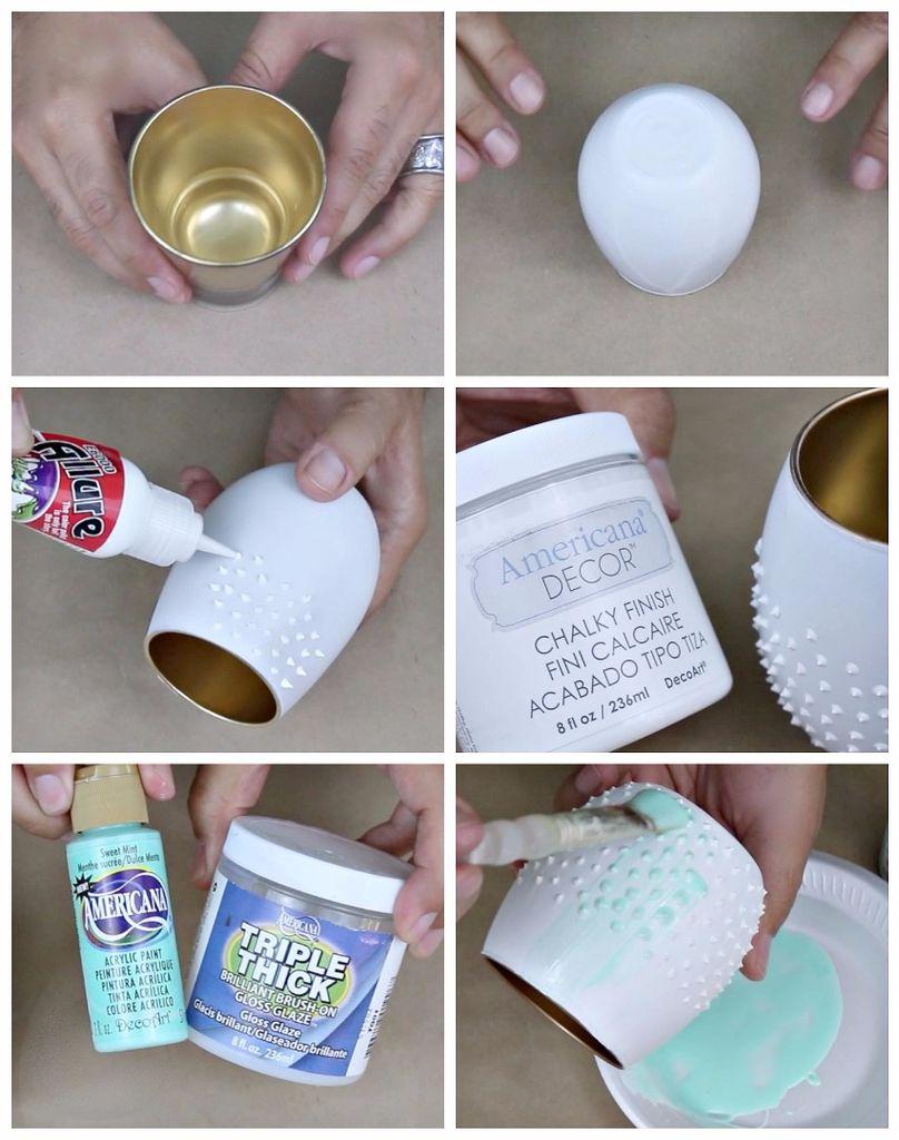 Пошаговая инструкция в картинках по украшению ваз, подсвечников и цветочных горшков