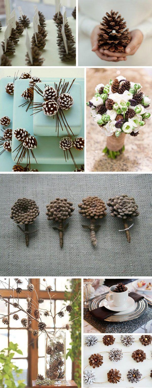 Как использовать шишки для украшения интерьера зимой: сложные варианты