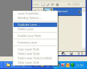 выберите в панели инструментов «Слои» пункт «Дублировать слой» (Duplicate Layer)