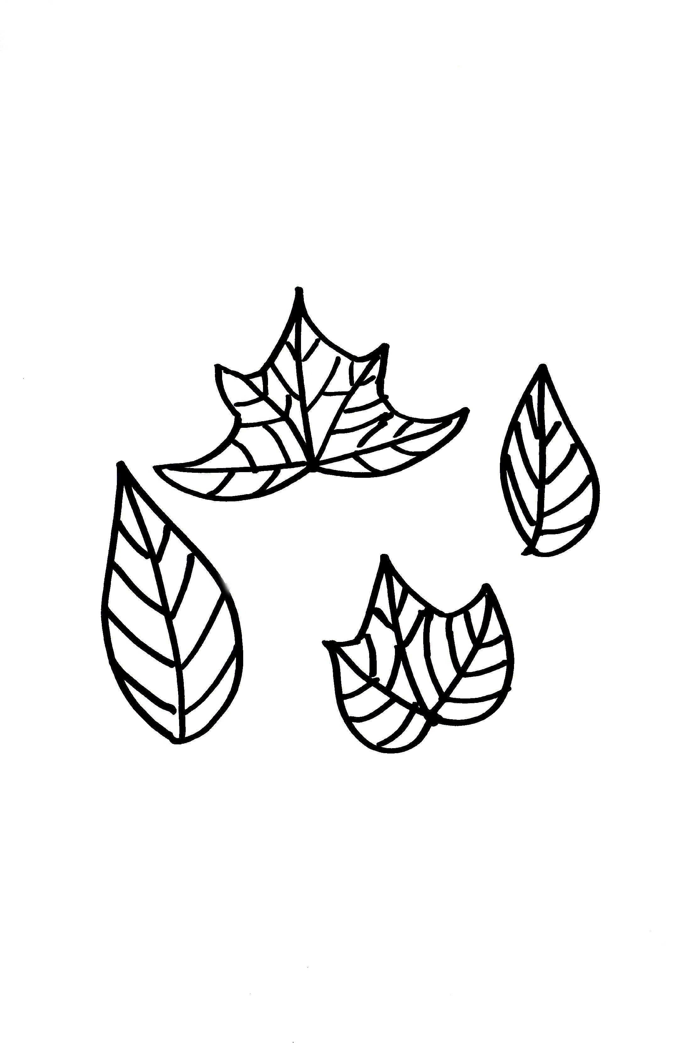 Отдельно на листе бумаги или на картоне ручкой рисуем сначала шаблоны листьев и цветов для венка: они должны быть разных форм и более-менее разных размеров