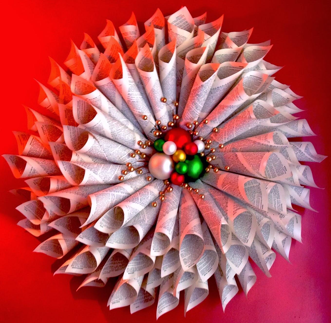 Объемный венок из 4-х уровней уменьшающихся по длине кульков