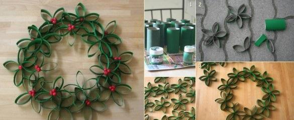 Как делать уникальные праздничные венки из подручных материалов