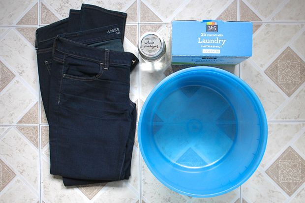 Как надежно вымыть лишний краситель из джинс - исходные материалы