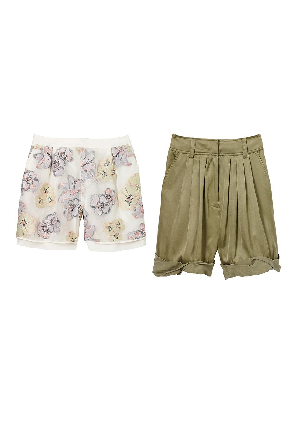 шорты средней длины для солидного возраста: от ClubMonaco и от Rachel Zoe