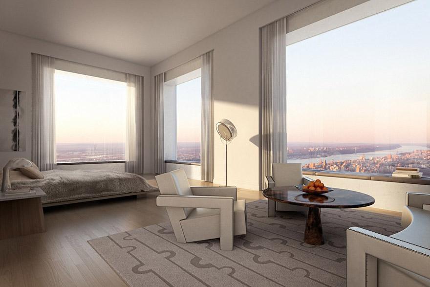 432 Парк-Авеню (432 Park Avenue) - апартаменты/квартира/пентхаус в полукилометре над городом в Нью-Йорке: хозяйская спальня