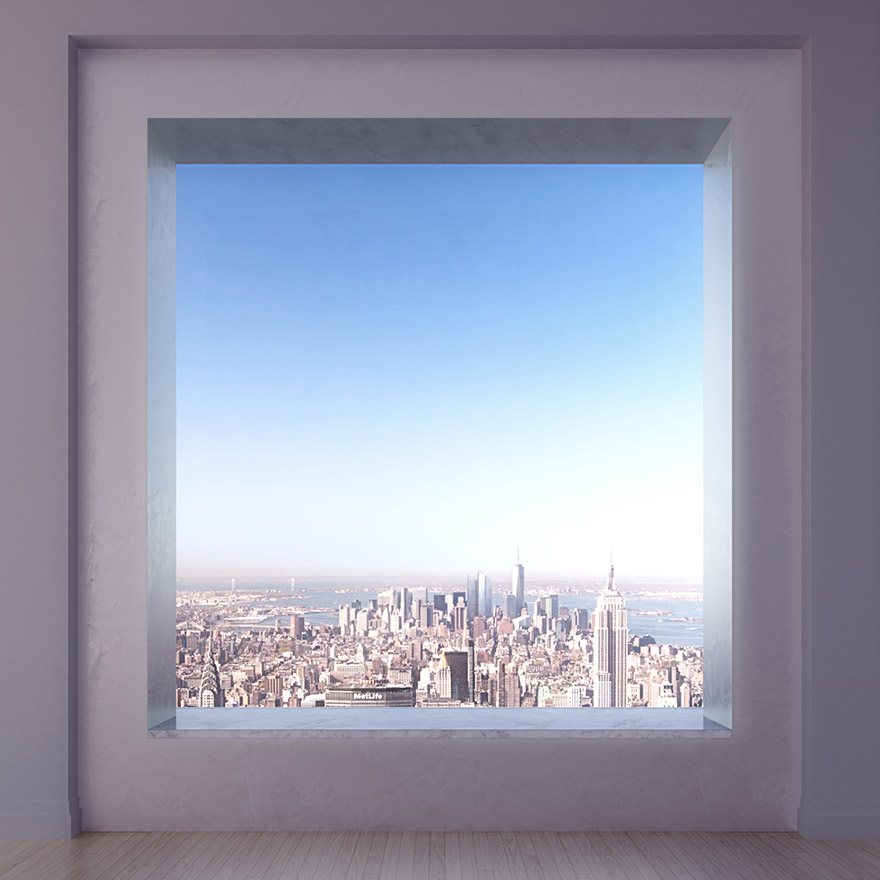 432 Парк-Авеню (432 Park Avenue) - апартаменты/квартира/пентхаус в полукилометре над городом в Нью-Йорке: огромые окна