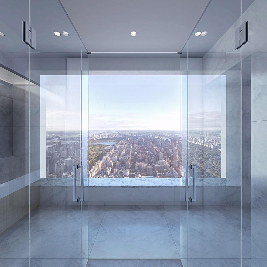 432 Парк-Авеню (432 Park Avenue) - апартаменты/квартира/пентхаус в полукилометре над городом в Нью-Йорке: ванна