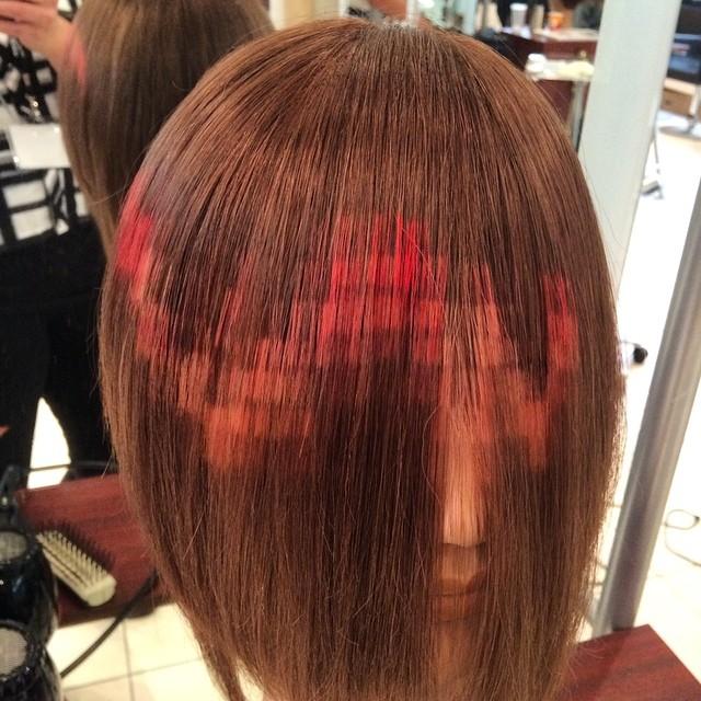 """Как выглядит новейший тренд весны 2015 в окрашивании волос """"Pixelated Hair"""""""