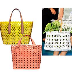Хозяйственные пластиковые сумки в дырочку: мода весна-лето 2014