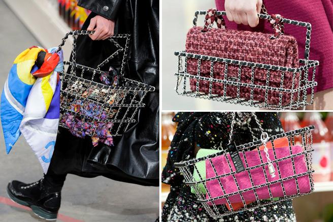 В Шанель пошли еще дальше и предложили почти настоящие ручные корзинки в качестве сумок.
