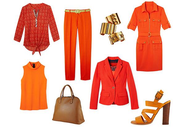 мода весны 2014: оранжевый цвет