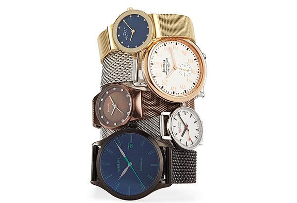 мода весны 2014: часы на плетеных сетчатых ремешках