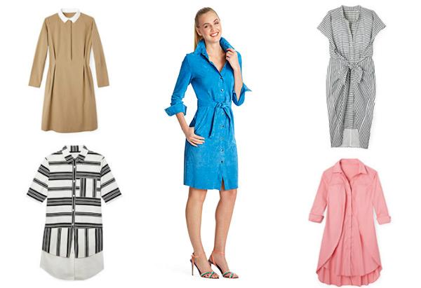 мода весны 2014: платья рубашечного кроя