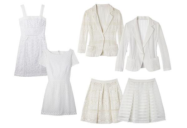 мода весны 2014: текстурированный белый, кружево