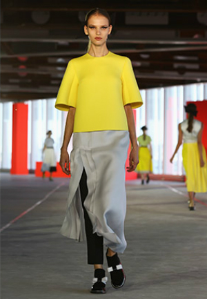 мода весна 2014: юбка на брюки