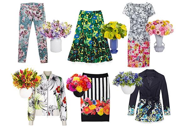 мода весна 2014: модные цветочные принты