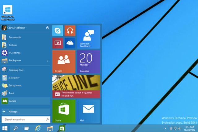 Windows 10, Рабочий стол, вернули меню и кнопку Пуск