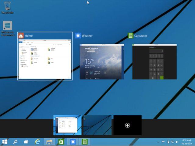 Windows 10, Рабочий стол, приложения